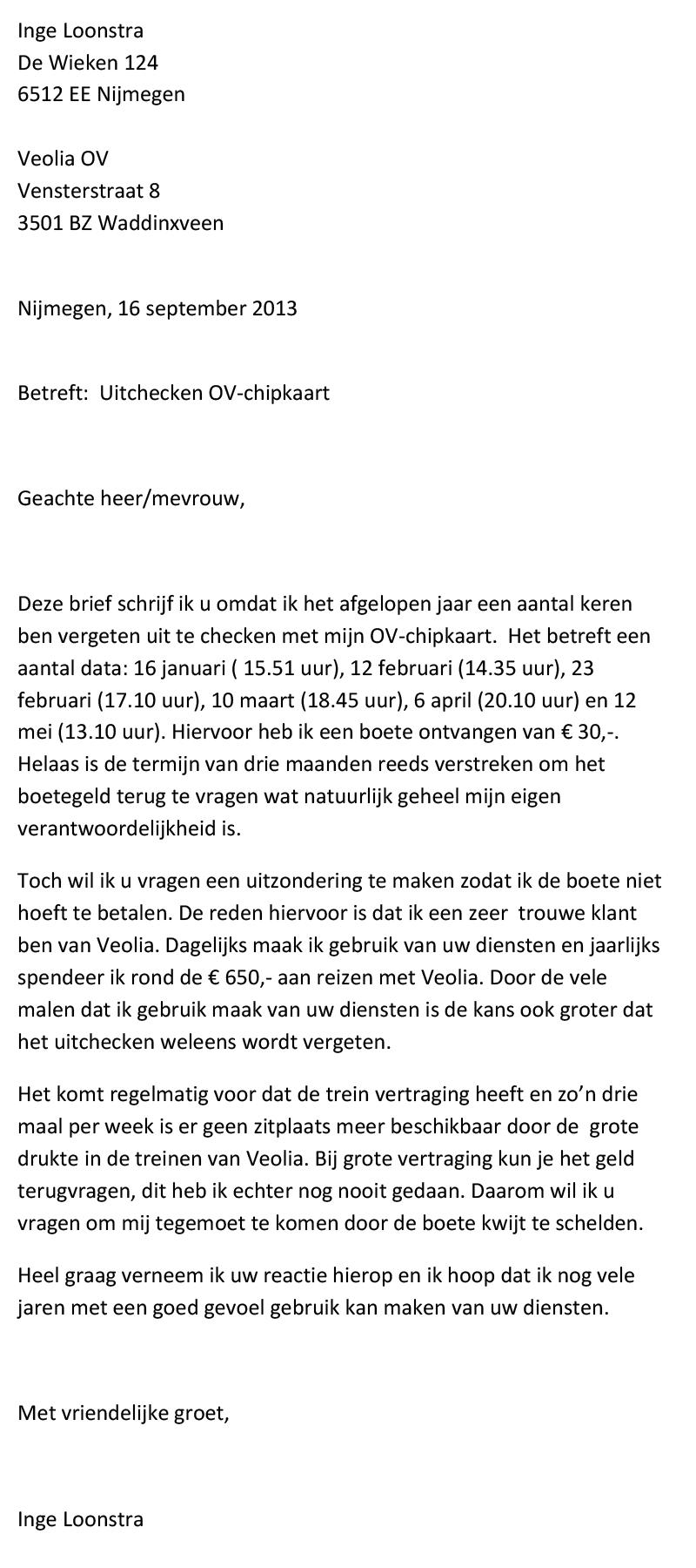 klachtenbrief product Klachtenbrief Product | gantinova